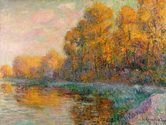A River in Autumn, 1909-Gustave Loiseau-Giclee Print