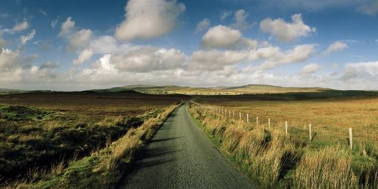 A Road Cuts Through a Scottish Moor Near Dunvegan-Macduff Everton-Photographic Print