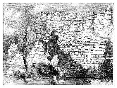 A Rock Inscription on the Banks of the Yenisei River, 1895--Giclee Print