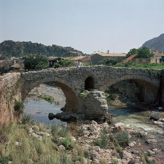 A Roman bridge in Majorca, 2nd century. Artist: Unknown-Unknown-Photographic Print