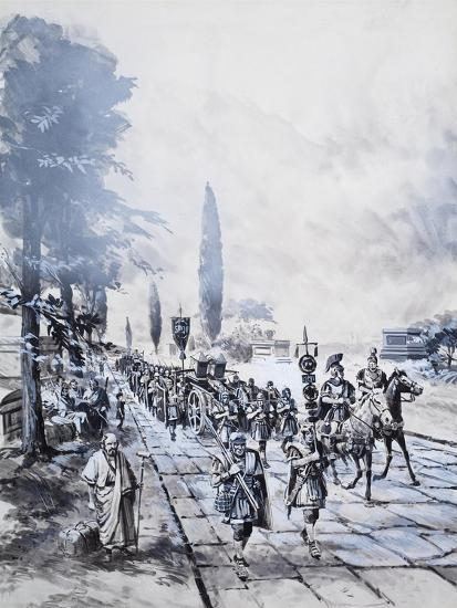 A Roman Legion-Barrie Linklater-Giclee Print