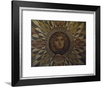 A Roman Mosaic Floor Panel, Roman Museum of Antiquities-Richard Nowitz-Framed Photographic Print