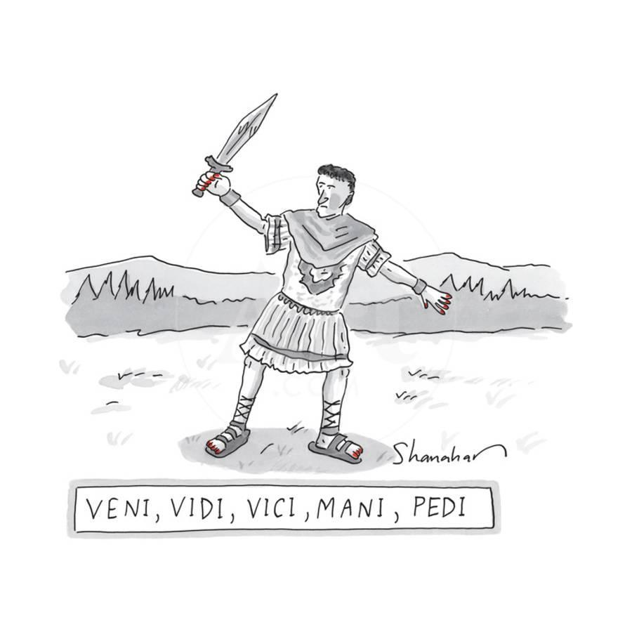 A Roman Soldier with painted red toenails and finger nails -- Veni ...