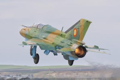 A Romanian Air Force Mig-21B Taking Off from Camp Turzii Air Base, Romania-Stocktrek Images-Photographic Print