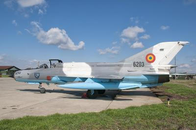 A Romanian Air Force Mig-21C Airplane at Camp Turzii Air Base, Romania-Stocktrek Images-Photographic Print