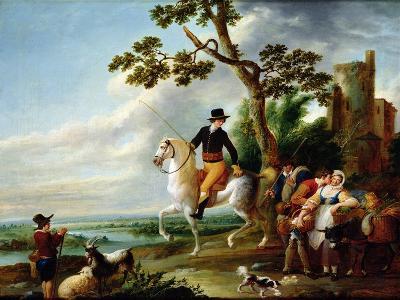 A Romantic Meeting-Louis Joseph Watteau-Giclee Print