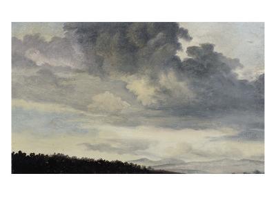 A Rome : étude de ciel chargé de Nuages-Pierre Henri de Valenciennes-Giclee Print
