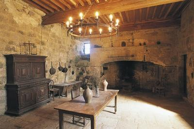 A Room in Chateau of Flamarens, Midi-Pyrenees, France--Photographic Print