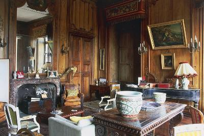 A Room in Chateau of Loyat, 18th Century, Brittany, France--Photographic Print