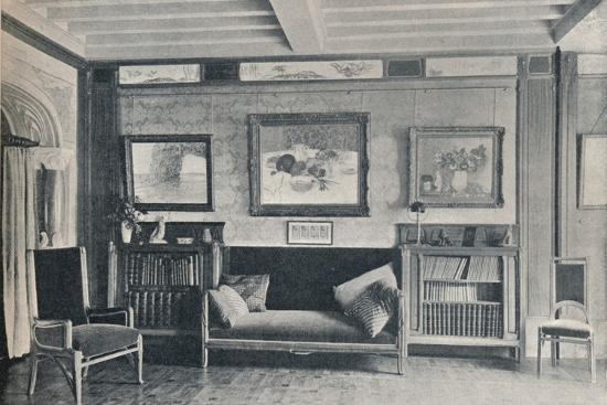 A room in the Paris residence of monsieur G. Roucher, with furniture by Maurice Dufrene, c1909-Unknown-Photographic Print
