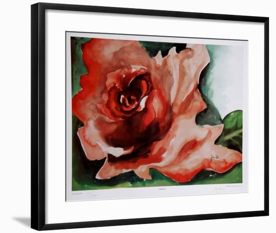 A Rose Is-Jenik Cook-Framed Collectable Print