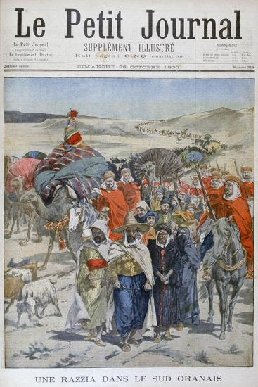 A Round Up in Southen Oranais, Algeria, 1900--Giclee Print