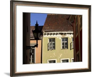 A Row of Colorful Quaint Buildings with Open Windows--Framed Photographic Print