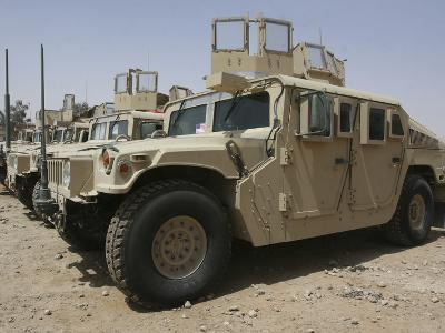 A Row of Humvees from Task Force Military Police-Stocktrek Images-Photographic Print