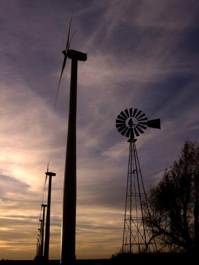 A Row of Wind Turbines-Charlie Riedel-Photographic Print