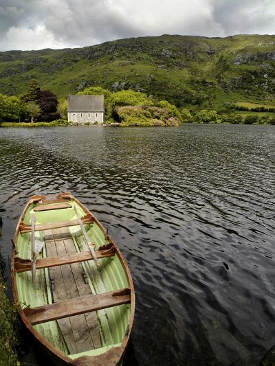A Rowboat and a Boat House at Gouganbarra, County Cork, Ireland-Chris Hill-Photographic Print