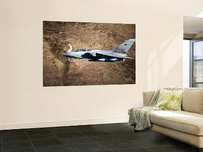 A Royal Air Force Tornado GR4 During Low Fly Training in North Wales-Stocktrek Images-Wall Mural