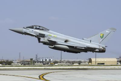 A Royal Air Forcetyphoon Fgr4 Taking Off from Konya Air Base, Turkey-Stocktrek Images-Photographic Print