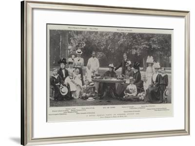 A Royal Family Party at Osborne, August 1898--Framed Giclee Print