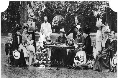 A Royal Family Party at Osborne House, Isle of Wight, C1890-1900--Giclee Print