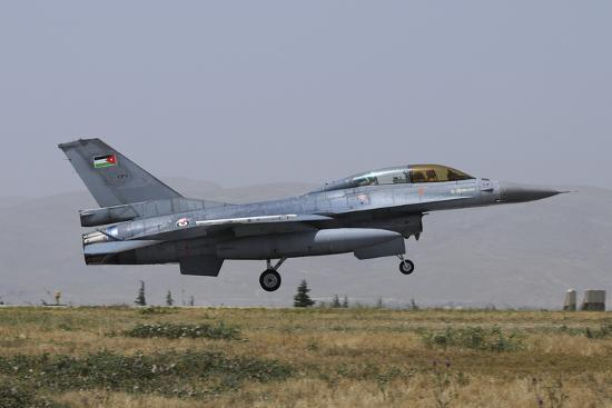 A Royal Jordanian Air Force F-16B Landing at Konya Air Base Photographic  Print by Stocktrek Images  13933e96a