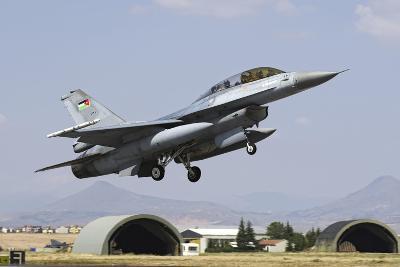 A Royal Jordanian Air Force F-16Bm During Exercise Anatolian Eagle-Stocktrek Images-Photographic Print