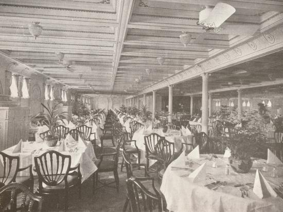 'A Royal Mail Dining Hall', 1914-Unknown-Photographic Print