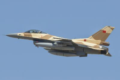 A Royal Moroccan Air Force F-16 Block 52+ Flying Above Morocco-Stocktrek Images-Photographic Print