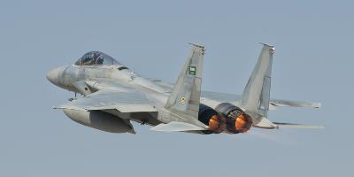 A Royal Saudi Air Force F-15 in Flight over Spain-Stocktrek Images-Photographic Print