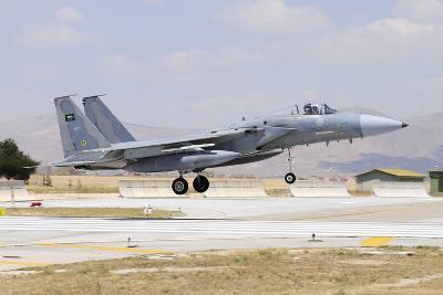 A Royal Saudi Air Force F-15C Eagle Landing on the Runway-Stocktrek Images-Photographic Print