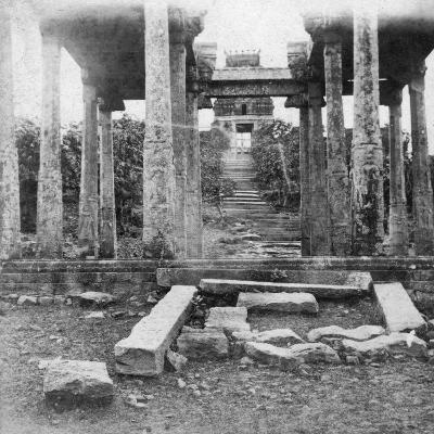 A Ruined Temple Near Madras, India, 1874--Giclee Print