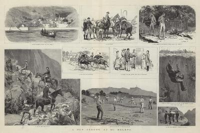 A Run Ashore at St Helena-Frank Dadd-Giclee Print