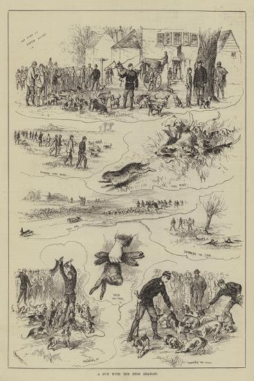 A Run with the Eton Beagles--Giclee Print