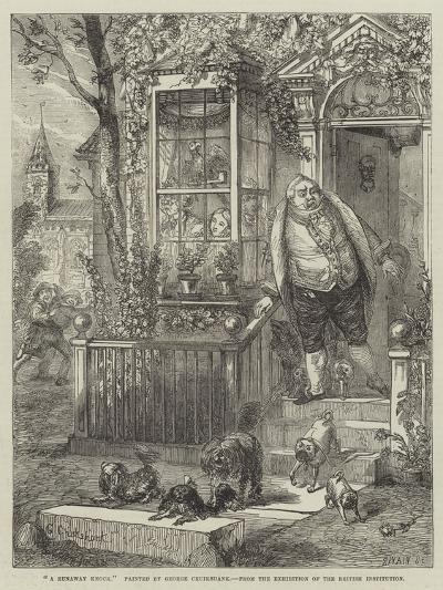 A Runaway Knock-George Cruikshank-Giclee Print