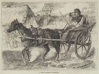 A Rural Postman in Hungary--Giclee Print