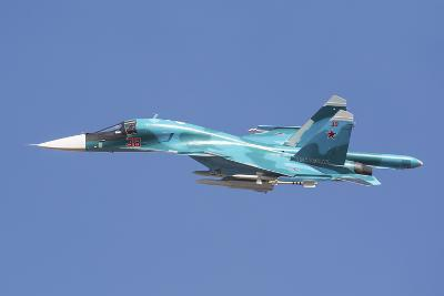 A Russian Air Force Su-34 in Flight over Russia-Stocktrek Images-Photographic Print