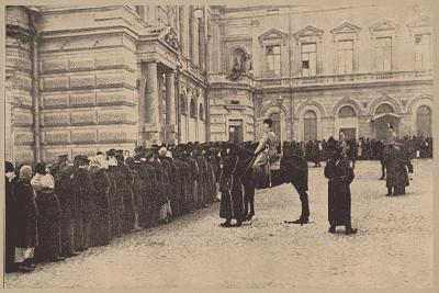 A Russian Bread Line Guarded by the Imperial Police, March 1917--Giclee Print