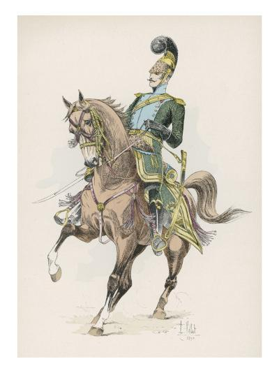 A Russian Cossack of the Imperial Guard on Horseback with Lance--Giclee Print