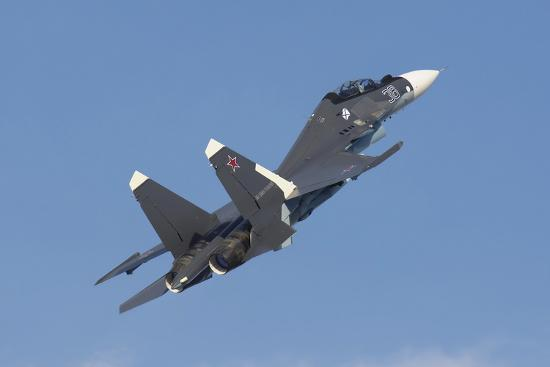 A Russian Navy Su-30Sm in Flight over Russia-Stocktrek Images-Photographic Print