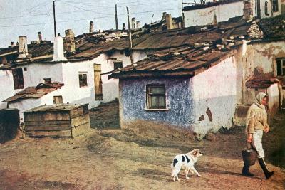A Russian Village, World War II, 1942--Giclee Print