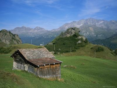 A Rustic Mountain Hut High in the Swiss Alps Near St. Moritz-Taylor S^ Kennedy-Photographic Print
