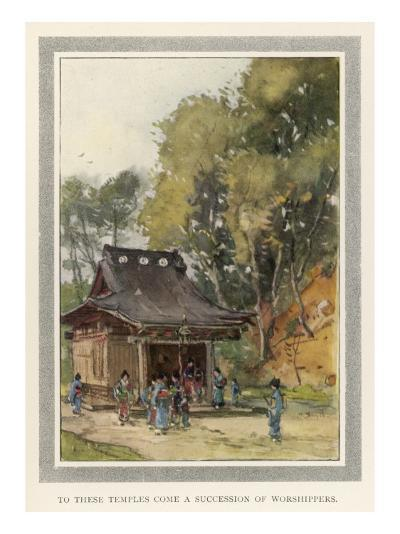 A Rustic Temple in the Japanese Countryside--Giclee Print