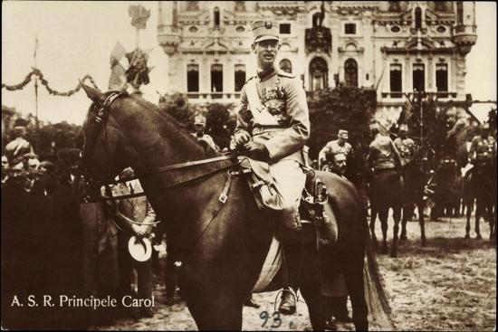 A.S.R. Principele Carol, Adel Rumänien, Pferd, Parade--Giclee Print