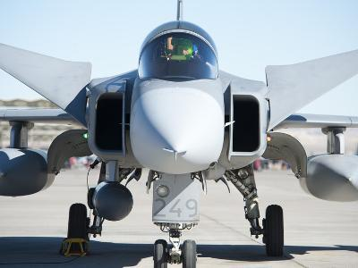 A Saab JAS-39C Gripen of the Swedish Air Force-Stocktrek Images-Photographic Print