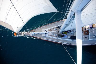 A Sailboat from the Tip of the Mast-Ben Horton-Photographic Print