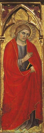 A Saint, Detail from the Assumption of the Virgin, Triptych, 1401, Taddeo Di Bartolo--Giclee Print