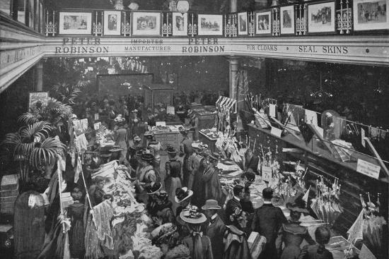 A sale day at Peter Robinson's department store, Oxford Street, London, c1903-Unknown-Photographic Print