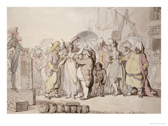 A Sale of English Beauties in the East Indies, circa 1810-Thomas Rowlandson-Giclee Print
