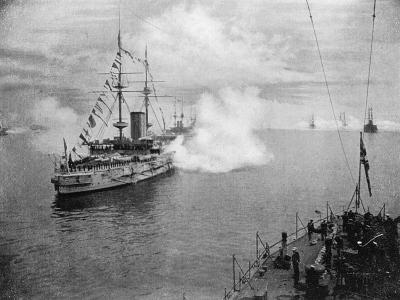A Salute by the Home Fleet, 1907--Giclee Print
