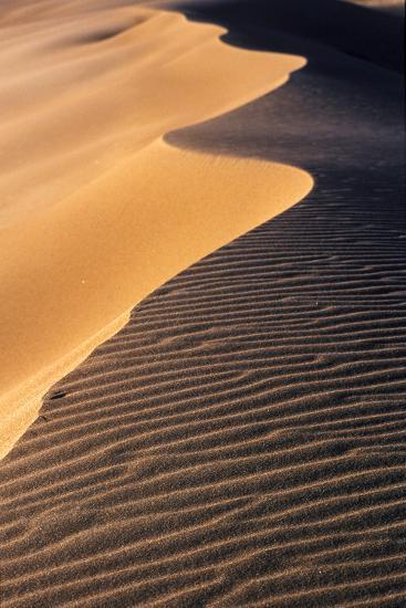A Sand Dune at Sunset, Great Sand Dunes National Park and Preserve, Colorado-Keith Ladzinski-Photographic Print